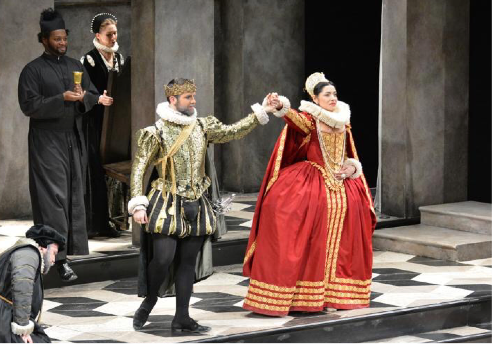 Jacqueline Correa as Gertrude in The Acting Company & Guthrie Theater's production of HAMLET